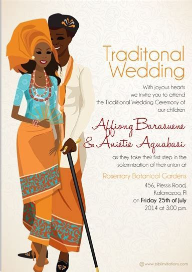 The best wedding invitations for you: Xhosa wedding