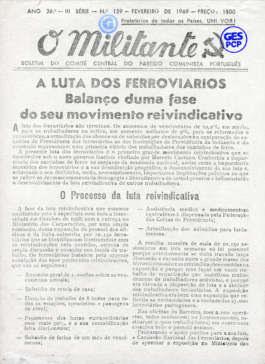 O Militante, Série 3, n.º 159 (FEV. 1969)