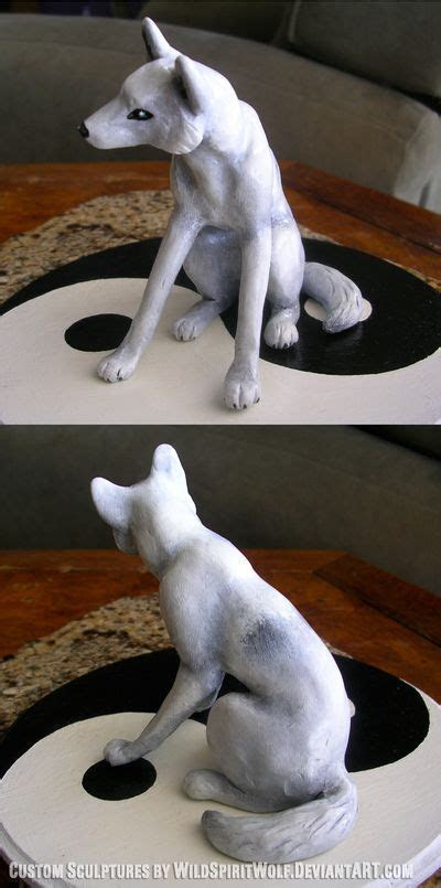 wolf wedding cakes   Wedding Topper White Wolf by
