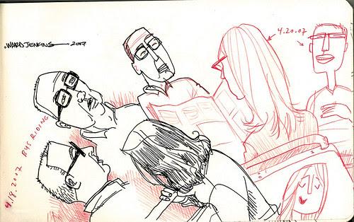 sketches: bus riding 1