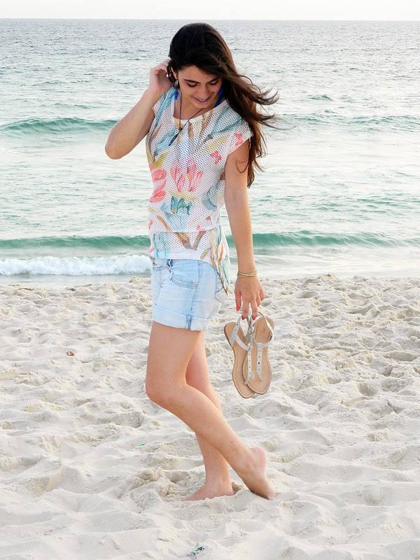 juliana leite make up praia look do dia jeans blusa floral verao 021