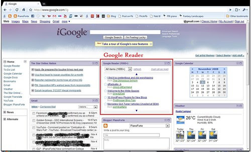Google Reader in iGoogle
