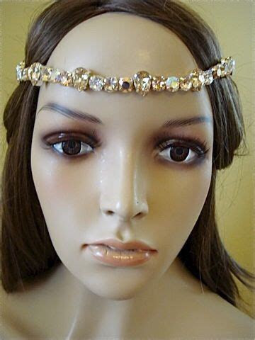 Custom Crystal Bridal Brow Band   Headband   The Crystal