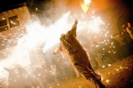 La Santantonada de Forcall, la fiesta del fuego
