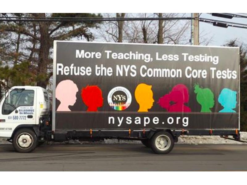 Common Core Critics 'Roll' Message Across Long Island