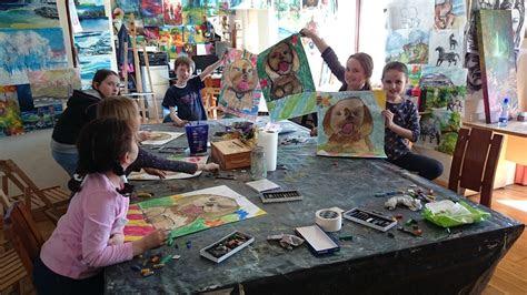 childrens art class drawing ennis arts school