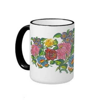 hungarian flowers mug