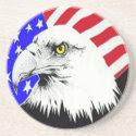 Bald Eagle and American Flag Coaster coaster