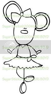 Sugar Stick - Ballet Mouse