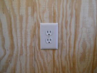 Internal Electricity Wall Plate in Place