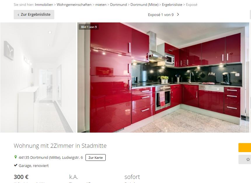 schanna512 wohnung mit 2zimmer in stadmitte 44135 dortmund. Black Bedroom Furniture Sets. Home Design Ideas