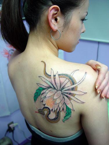 Feminine Snake Tattoos