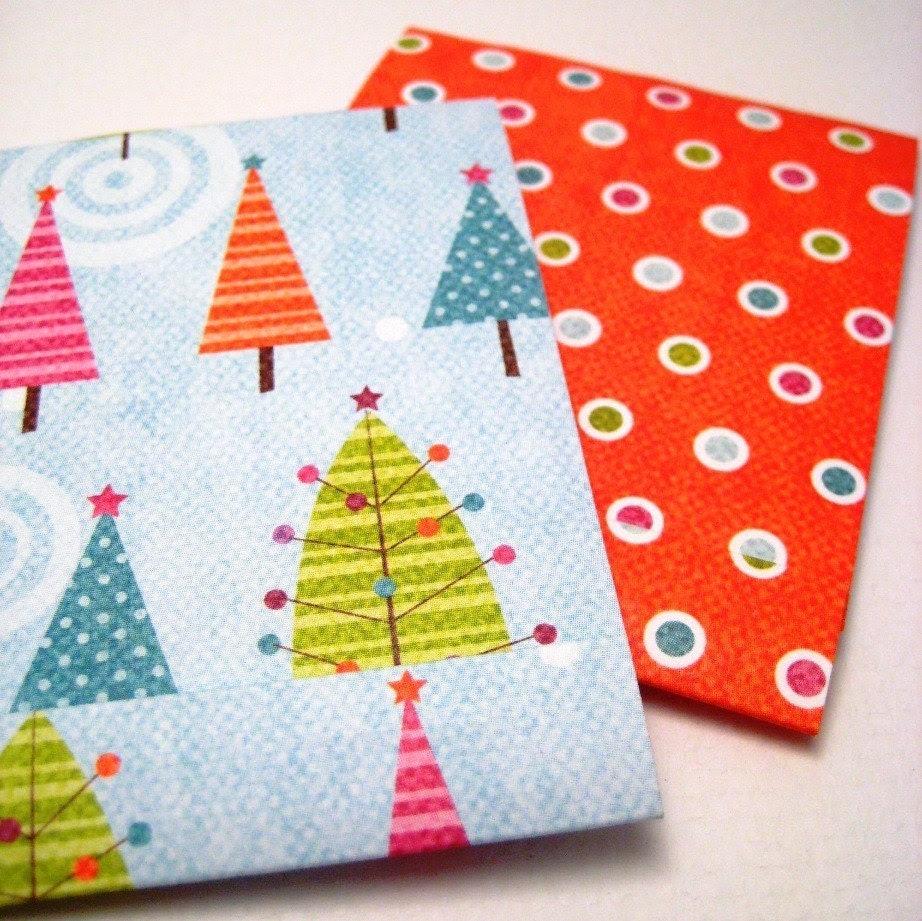 Four Winter Matchbook Notepads