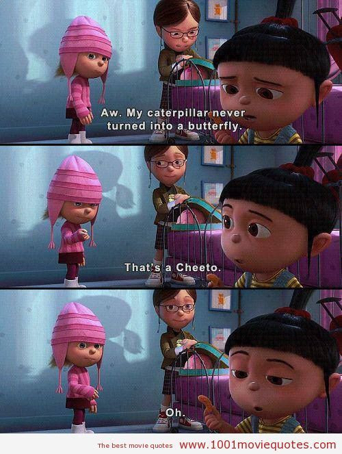 Despicable Me quote, minions