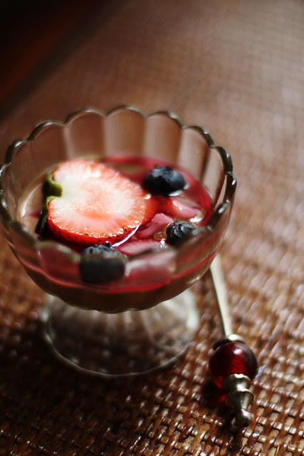 Chocolate Pot de Creme with Fresh Berries & Fruit Compote