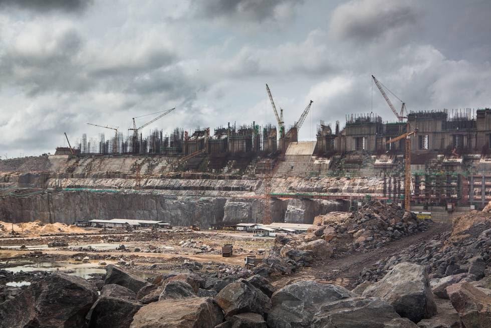 La presa de Belo Monte, en el río Xingú, será la tercera del mundo en generación eléctrica cuando entre en servicio.