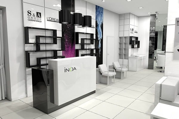 S&A group beauty salon interior design on Behance