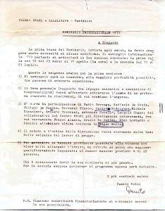 1970 - Projecto de Seminário em Trapetto - Centro de Estudos de Partinico - Danilo Dolci