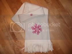 Breast Cancer Scarf and Ear Warmer