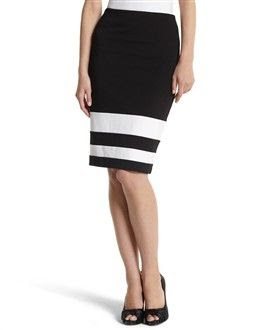 White House Black Market Colorblock Pencil Skirt