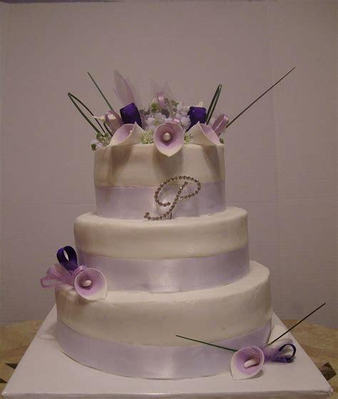 Purple Calla Lily Wedding Cake   CakeCentral.com