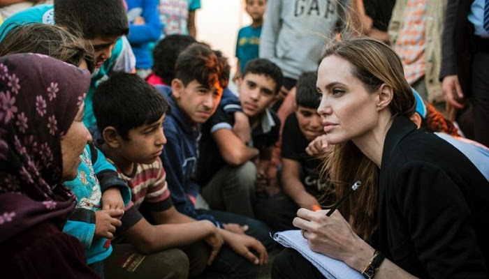 Angelina Jolie warns of breakdown for global refugee system