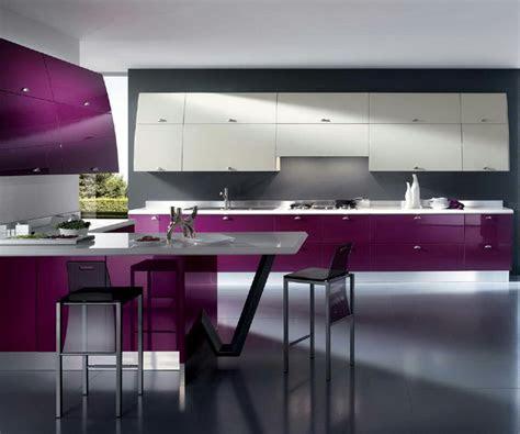 interior design trends  purple kitchen