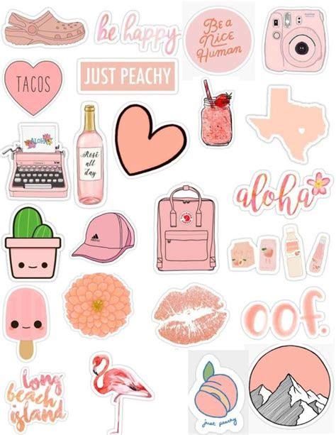 peach tumblr sticker pack aesthetic cute edits overlays