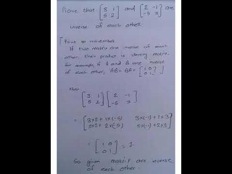 Matrix and determinant, II