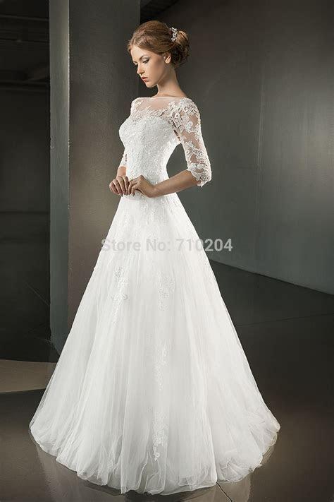 Aliexpress.com : Buy Weding Dress Three Quarter Sleeve