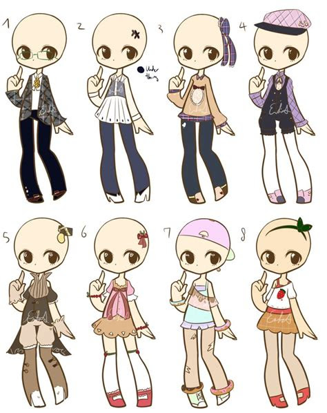 chibi clothes images  pinterest anime outfits