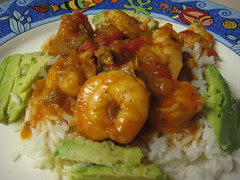 camarones with aguacate