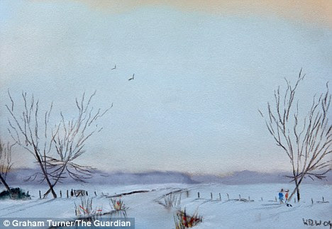 A painting by artist Kieron Williamson