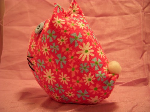 Kitty Stuffie/Pin Cushion (back)