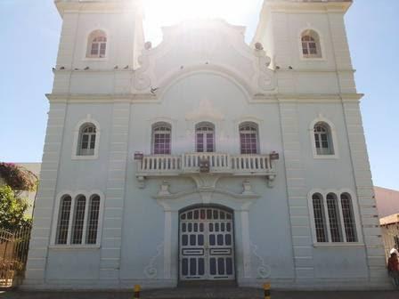 A fachada da igreja em Montes Claros, Minas Gerais