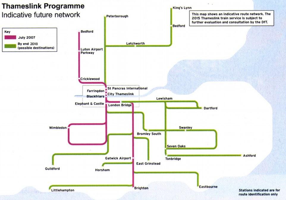 Image result for Thameslink Destinations