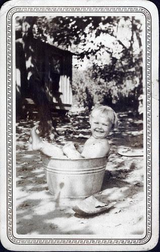 Nude at bath...