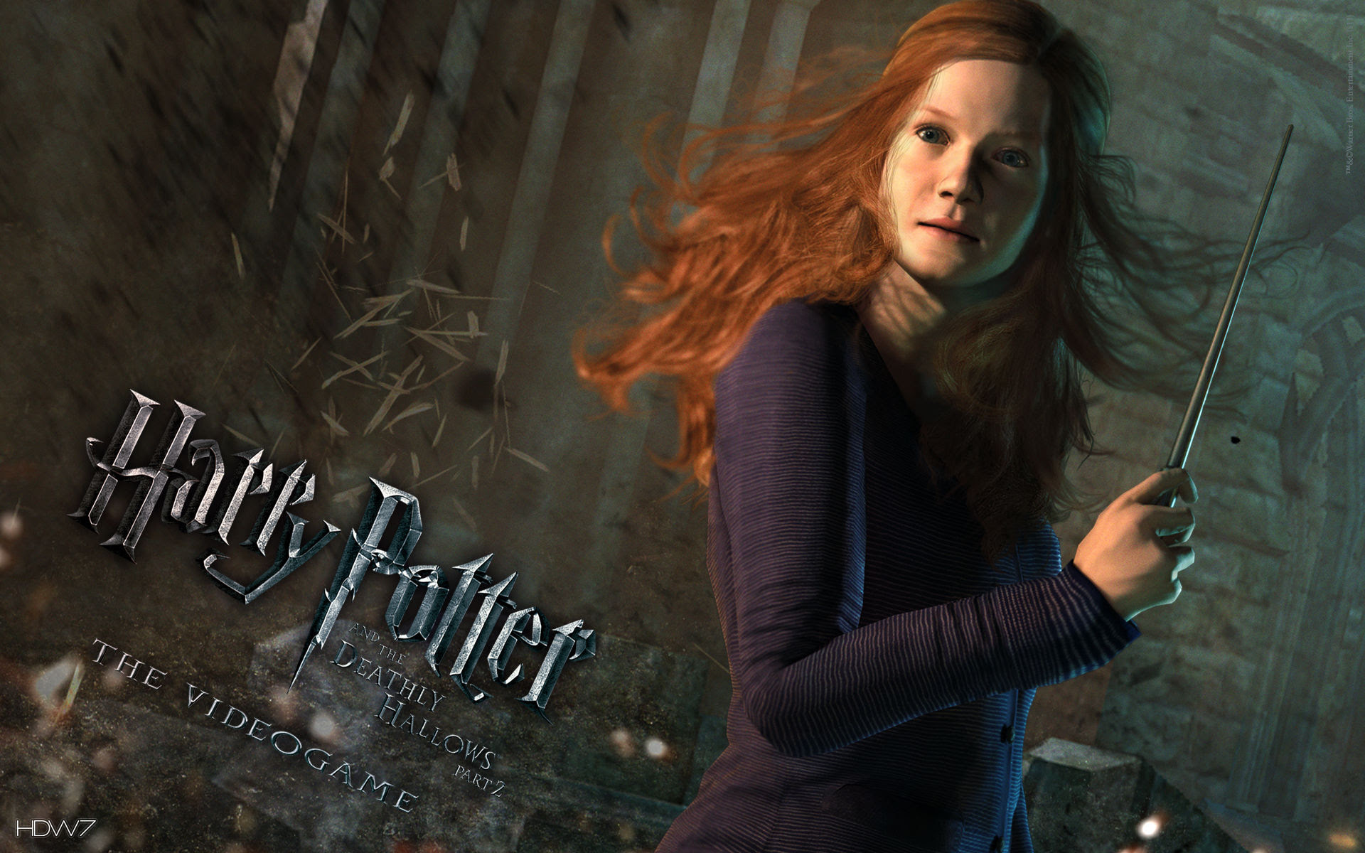 Harry Potter And The Deathly Hallows Ginny Widescreen Wallpaper