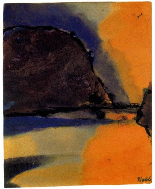 yama-bato:  Emil Nolde - Brown Mountain on a Lake [+]