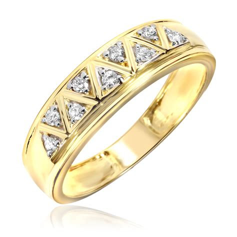 carat tw diamond mens wedding ring  yellow gold