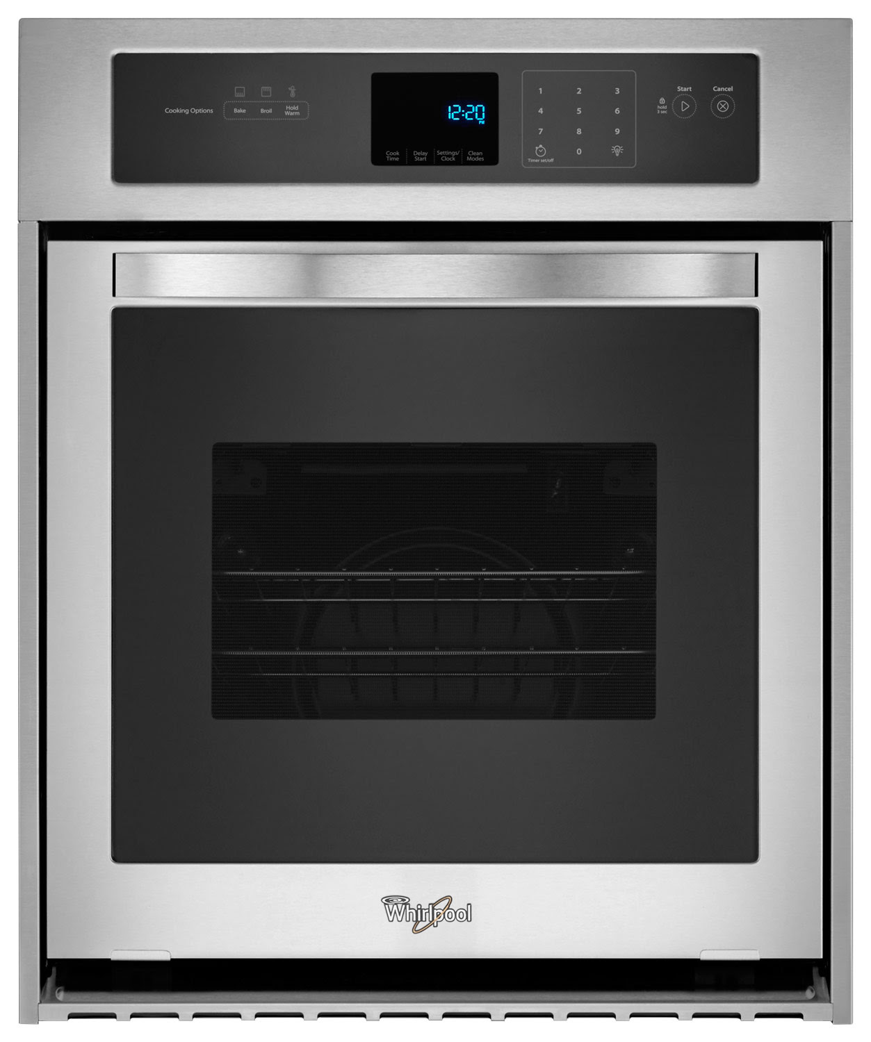 """Whirlpool 24"""" Built-In Single Electric Wall Oven Silver ..."""