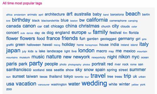 flickr tag cloud