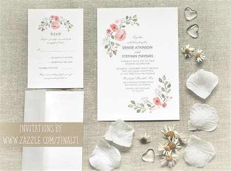 Cute Watercolor Flowers Wedding Invitations ? NEED WEDDING