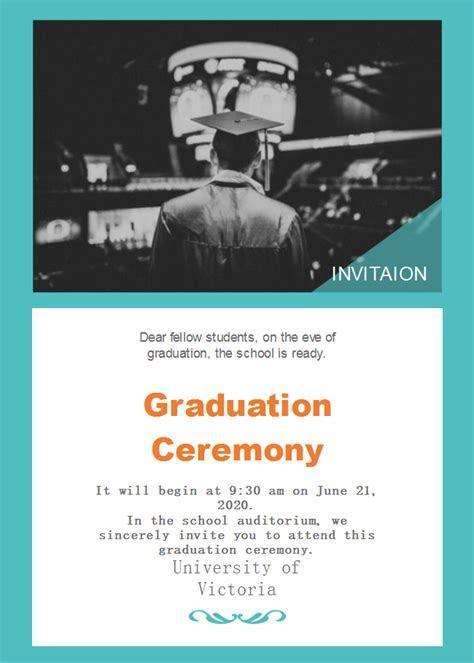 Free School Graduation Ceremony Invitation Templates