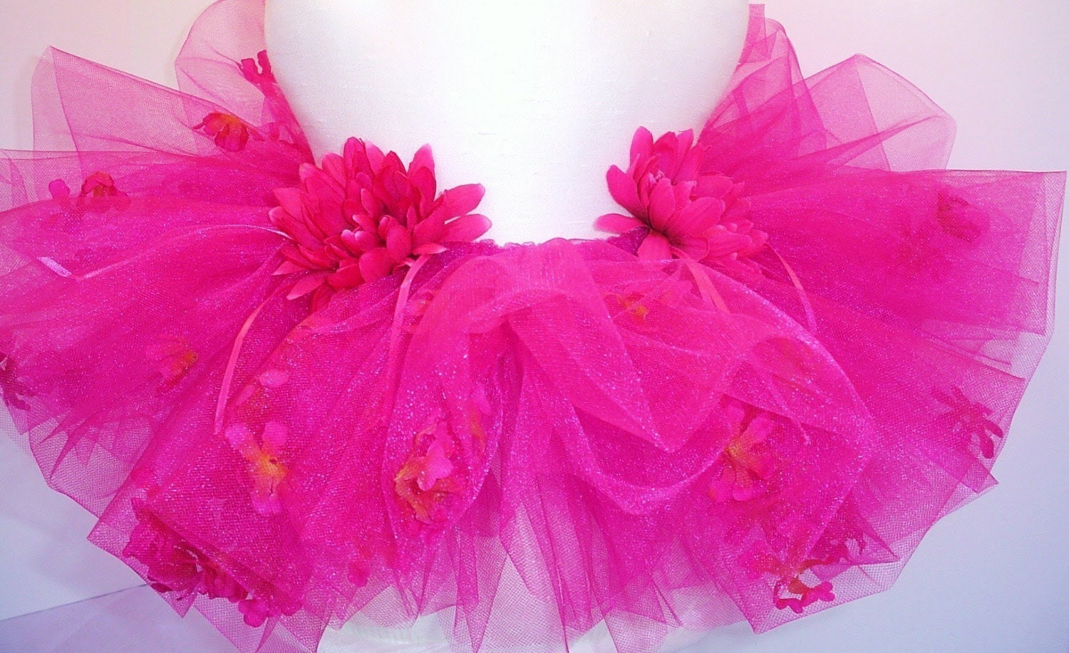Prima Tutu Sprinkled With Flower Petals - Frisky Fuchsia