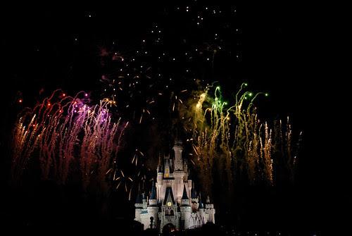 Fuegos artificiales Magic Kingdom