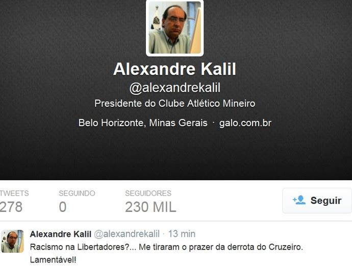 Alexandre Kalil print Twitter (Foto: Reprodução \Twitter)