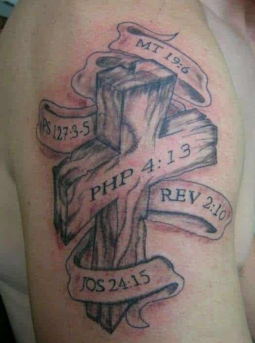 Cross Bible Verse Tattoos Tattoo Bytes
