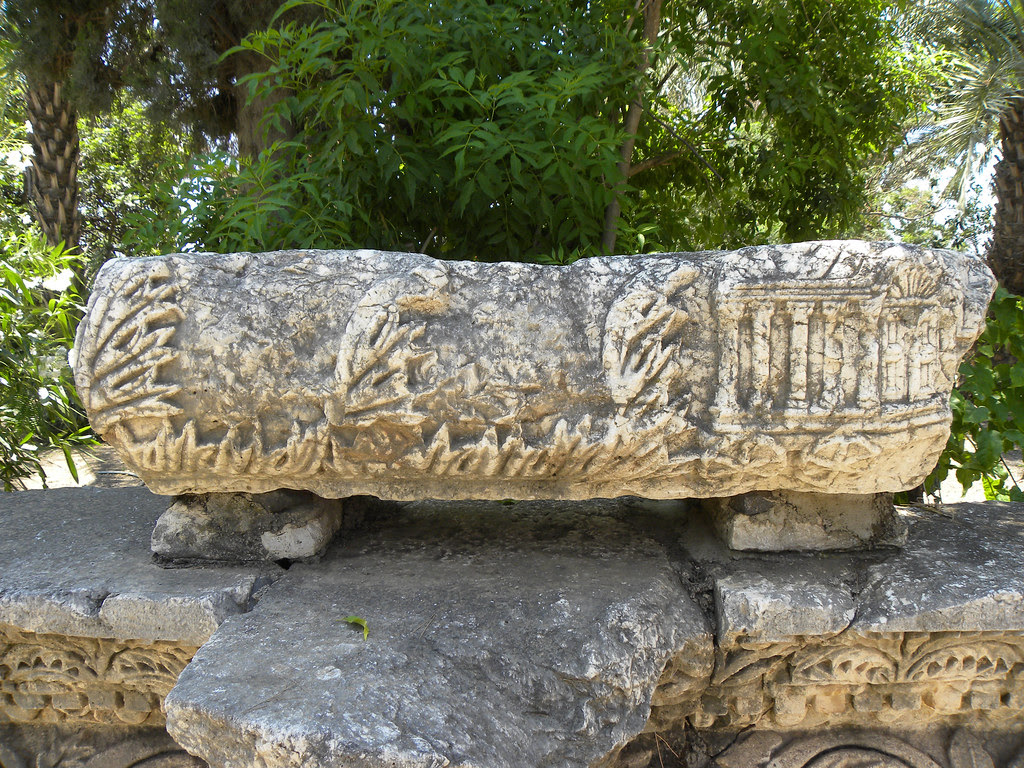 ark of the covenant in decoration from Capernaum synagogue