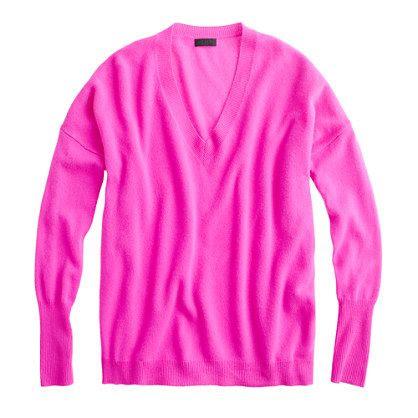 J.Crew Collection Cashmere Boyfriend Sweater